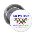 Héroe tribal de la cinta del autismo pins