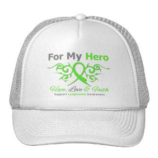 Héroe tribal de la cinta del cáncer del linfoma gorro de camionero
