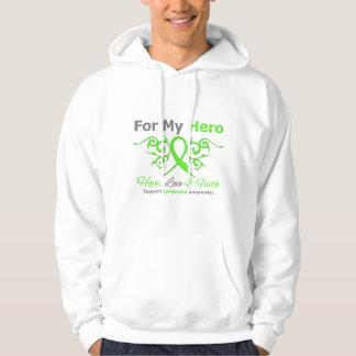 Héroe tribal de la cinta del cáncer del linfoma sudadera