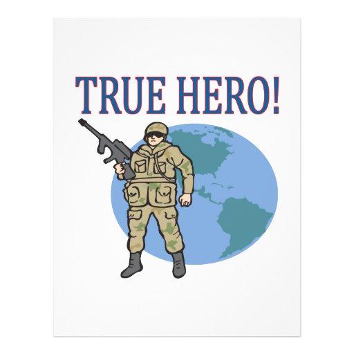 Héroe verdadero tarjetas informativas