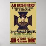 Héroe WW I del guardia del irlandés Impresiones