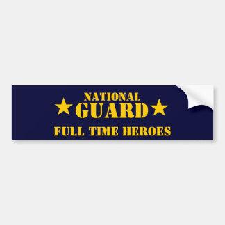 héroes a tiempo completo del Guardia Nacional Etiqueta De Parachoque