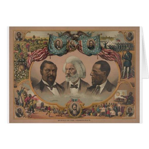 Héroes afroamericanos tempranos felicitaciones