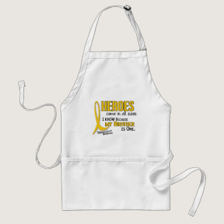 Heroes All Sizes 1 Brother CHILDHOOD CANCER Shirts Adult Apron