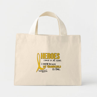 Heroes All Sizes 1 Grandchild CHILDHOOD CANCER Mini Tote Bag