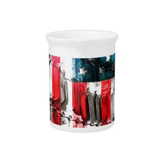 Héroes americanos jarrón