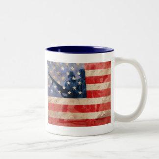 Héroes americanos taza de dos tonos