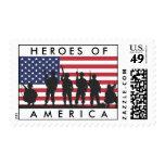 Héroes bandera de América - los E.E.U.U. con los s