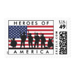 Héroes bandera de América - los E.E.U.U. con los Sellos