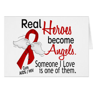 Heroes Become Angels AIDS Card