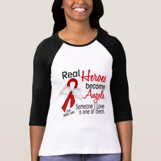 Heroes Become Angels AIDS Tshirt