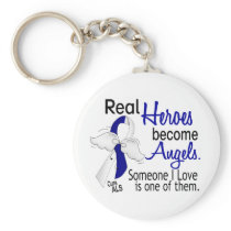 Heroes Become Angels ALS Keychain