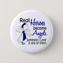 Heroes Become Angels ALS Pinback Button