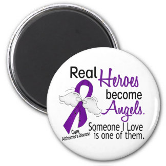 Heroes Become Angels Alzheimer's Disease 2 Inch Round Magnet