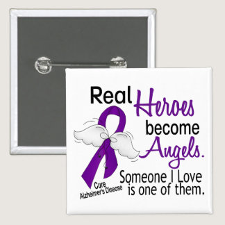 Heroes Become Angels Alzheimer's Disease Button