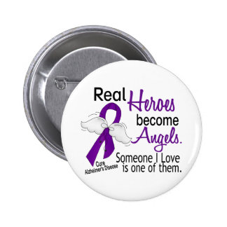 Heroes Become Angels Alzheimer's Disease Pinback Button