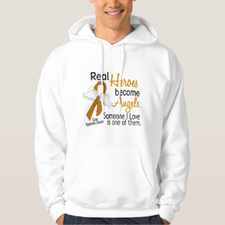 Heroes Become Angels Appendix Cancer Hoodie