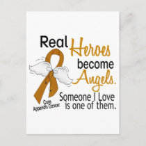 Heroes Become Angels Appendix Cancer Postcard