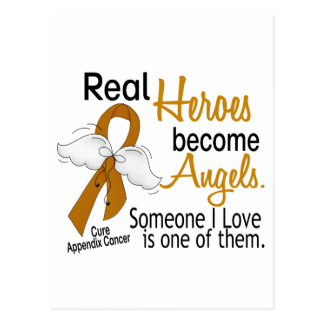 Heroes Become Angels Appendix Cancer Postcard