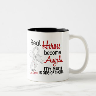 Heroes Become Angels Aunt Lung Cancer Mugs