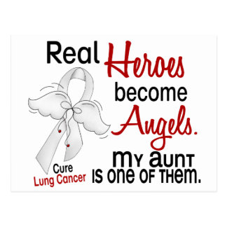 Heroes Become Angels Aunt Lung Cancer Postcard