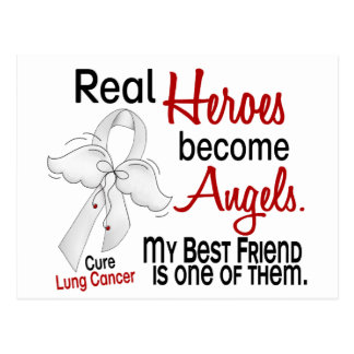 Heroes Become Angels Best Friend Lung Cancer Postcard