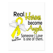 Heroes Become Angels Bladder Cancer Postcard