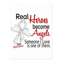 Heroes Become Angels Bone Cancer Postcard