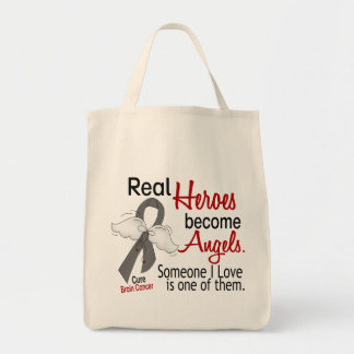 Heroes Become Angels Brain Cancer Tote Bag