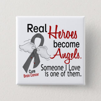 Heroes Become Angels Brain Cancer Button