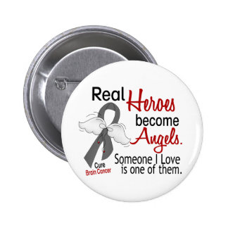 Heroes Become Angels Brain Cancer Pinback Button