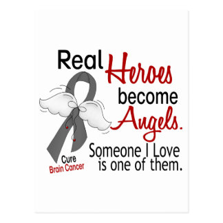 Heroes Become Angels Brain Cancer Postcard