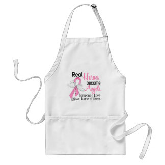 Heroes Become Angels Breast Cancer Adult Apron