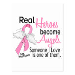 Heroes Become Angels Breast Cancer Postcard