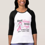 Heroes Become Angels Breast Cancer T-Shirt