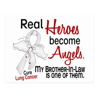Heroes Become Angels Brother-In-Law Lung Cancer Postcard