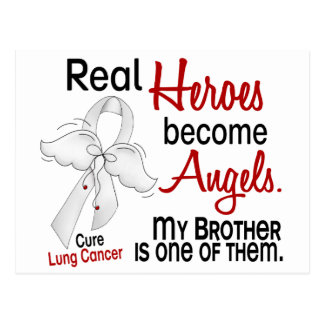 Heroes Become Angels Brother Lung Cancer Postcard