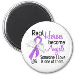 Heroes Become Angels Cancer Refrigerator Magnets