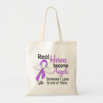 Heroes Become Angels Cancer Tote Bag