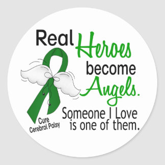 Heroes Become Angels Cerebral Palsy Classic Round Sticker