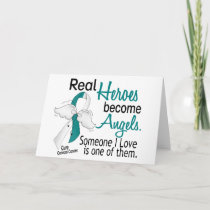 Heroes Become Angels Cervical Cancer Card
