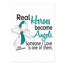 Heroes Become Angels Cervical Cancer Postcard