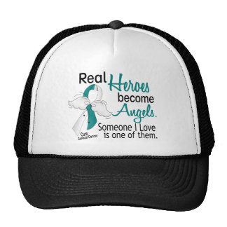 Heroes Become Angels Cervical Cancer Trucker Hat