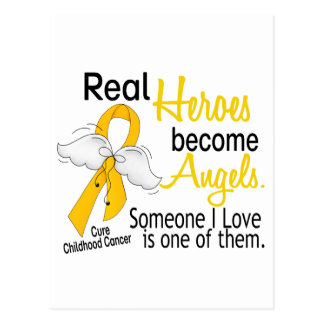 Heroes Become Angels Childhood Cancer Postcard