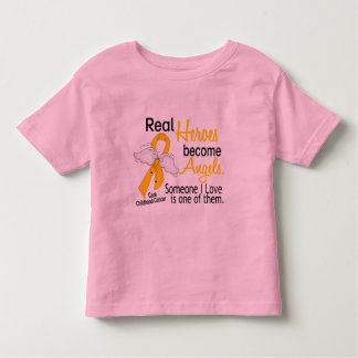 Heroes Become Angels Childhood Cancer Toddler T-shirt
