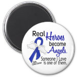 Heroes Become Angels Colon Cancer 2 Inch Round Magnet
