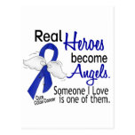 Heroes Become Angels Colon Cancer Postcard