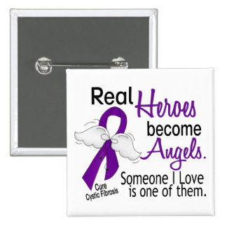 Heroes Become Angels Cystic Fibrosis Pin