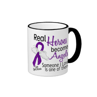 Heroes Become Angels Cystic Fibrosis Ringer Mug
