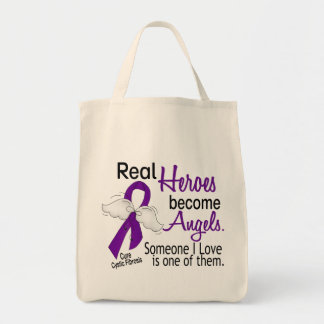 Heroes Become Angels Cystic Fibrosis Tote Bag